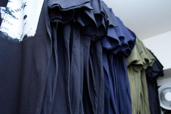 t-shirts dry