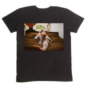 写真プリントTシャツ フォトTシャツ 黒